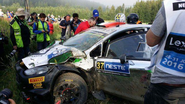El video del terrible accidente que sufrió un piloto italiano en el Rally de Finlandia
