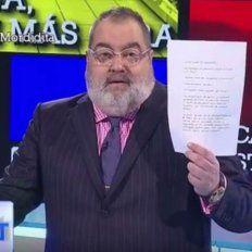 lanata revelo la carta que cristina le escribio a lazaro baez y gano el rating del domingo