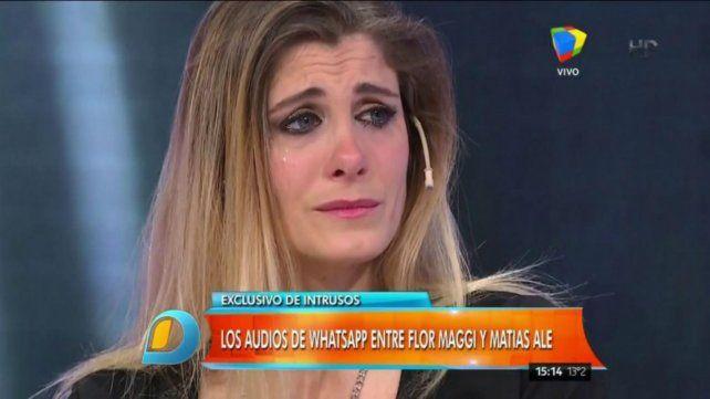 Flor Maggi dio indicios de haber perdido el embarazo que le había adjudicado a Matías Alé