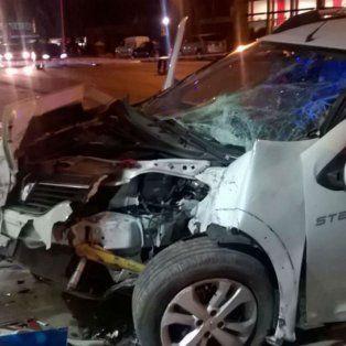 El accidente ocurrió anoche a las 20 en una estación de servicio. (Foto Twitter:@cymotta13)