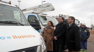 Fein presentó el nuevo equipamento de la empresa municipal de mantenimiento ambiental