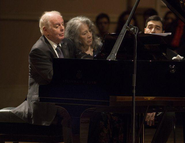 A 4 manos. Martha Argerich y Daniel Barenboim en un momento crucial.