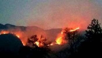 El Famatina. El incendio afecta al cordón