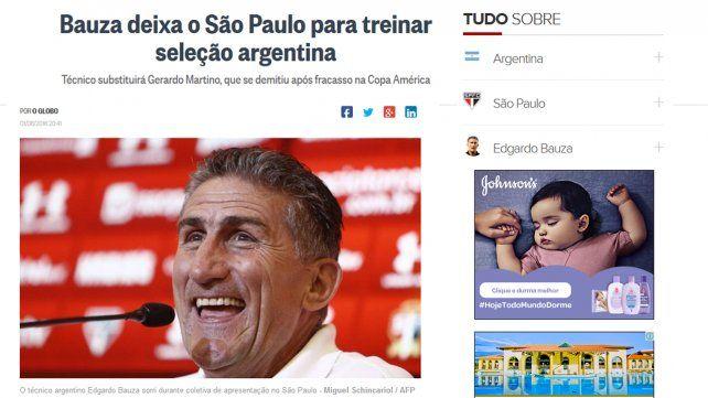 La elección del Patón Bauza como técnico de la selección recorrió el mundo