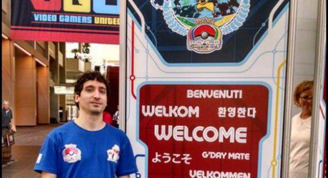 Ignacio del Barro ya participó en 2014 del Mundial de Pokemón que se desarrolló en Washington.