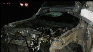 Estado en el que quedó la camioneta involucrada en el accidente.