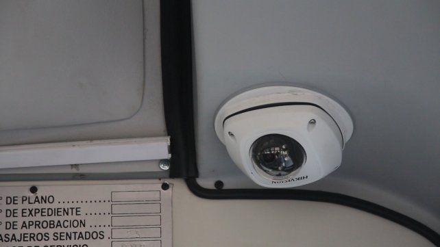 Las cámaras están ubicadas sobre el asiento del chofer
