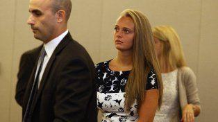 Michelle Carter durante el juicio.