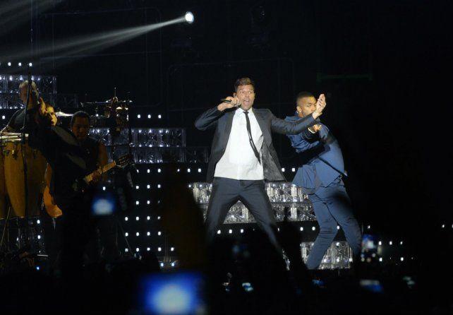 Ricky Martin en acción. El cantante regresa a Rosario en noviembre.