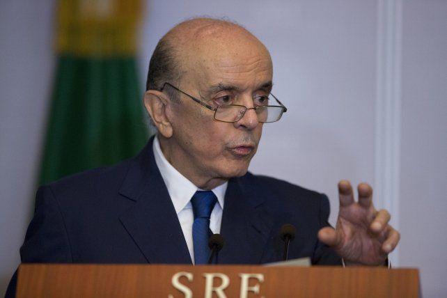 línea dura. El canciller del gobierno interino brasileño no quiere a Caracas al frente del bloque. Argentina