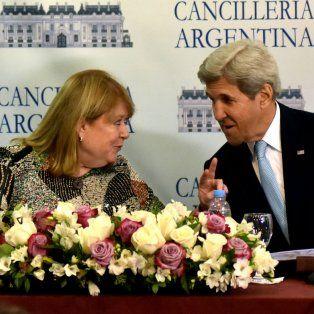 Malcorra y Kerry, en el Palacio San Martín.