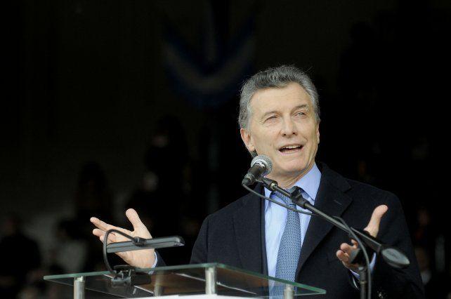 El presidente Maurcio Macri.