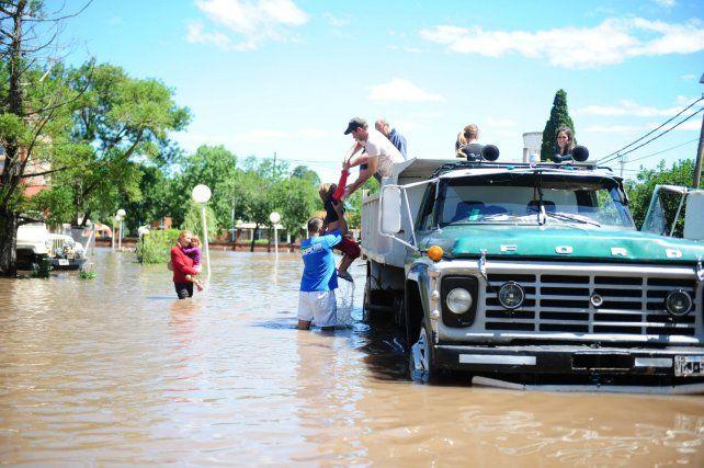 Durante los temporales de 2012