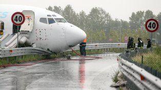 Susto. El accidente ocurrido en Bérgamo no causó víctimas.