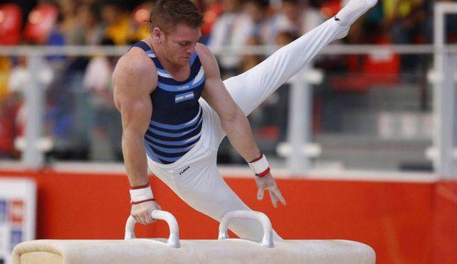 Con todo. El gimnasta competirá en la clasificación de los seis aparatos. Tiene el sueño de llegar a la final en barra.