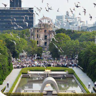 Homenaje. El acto de memoria se realizó en el Parque de la Paz.