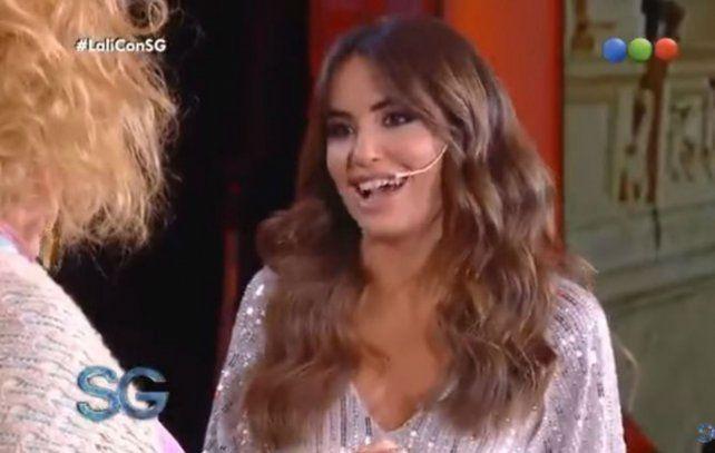 La simpática Lali se rió de sí misma con Antonio Gasalla.