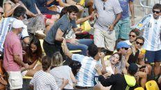 Un violento incidente se registró en las gradas durante el partido que hoy ganó Juan Martín del Potro.