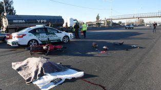 El fatal accidente se produjo sobre avenida Circunvalación.