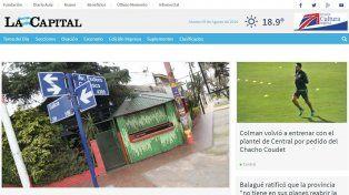 El nuevo diseño del portal de noticias del diario La Capital.