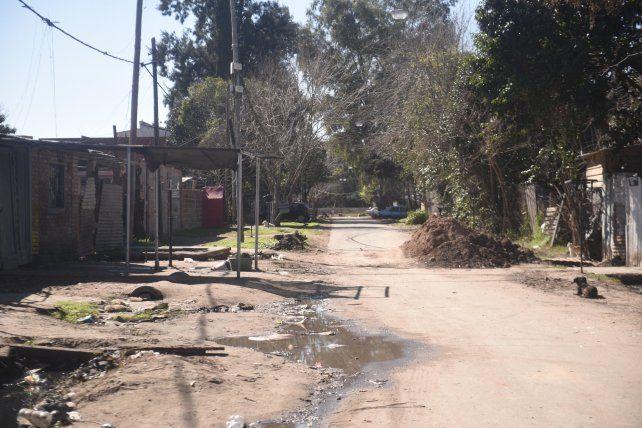 Calle humilde. El lugar donde fue asesinado Lencina