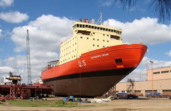 Almirante Irízar. El costo final fue de 120 millones de dólares