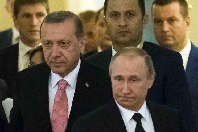 Reconciliados. Erdogan y Putin intentan reparar los lazos comerciales.
