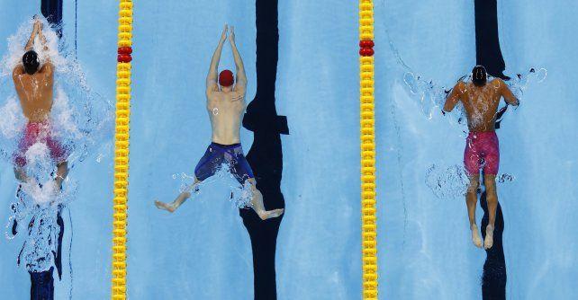 Como peces. La natación regala algunas de las fotos más memorables.
