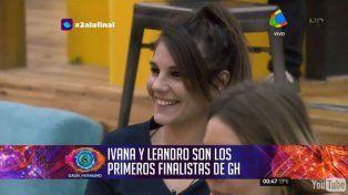 Ivana y Leandro son los primeros finalistas de Gran Hermano que anoche dejó cinco nominados
