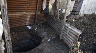 El pozo donde fue hallado el cadáver.