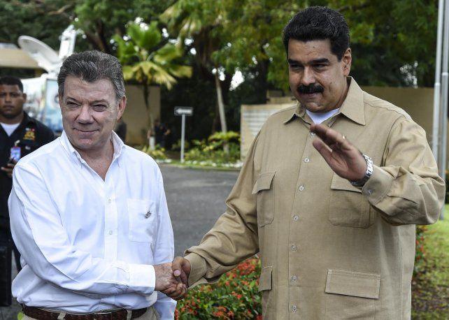 acercamiento. Maduro y Santos comenzaron a normalizar la frontera.