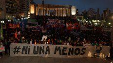 La marcha de Ni Una Menos en el Monumento a la Bandera.