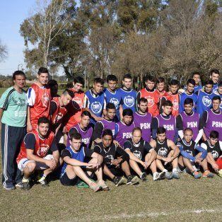 El plantel superior de Puerto San Martín Fútbol.