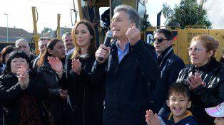 Acto fallido. Macri y Vidal tuvieron que cerrar de apuro la inauguración de viviendas en un barrio marplatense.