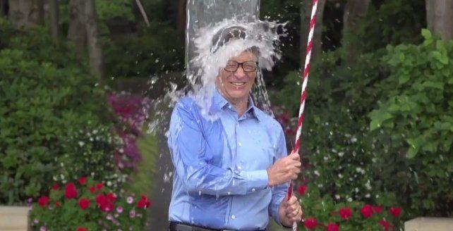 Solidario. Bill Gates se sumó la reto y donó fondos para tratar la ELA.