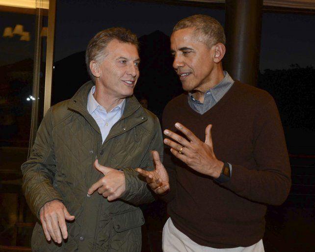 buena onda. Macri y Obama durante la histórica visita de marzo pasado.