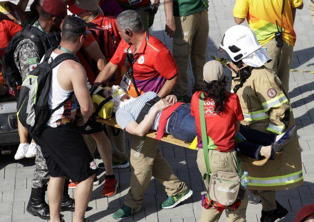 Siete personas resultaron heridas en un llamativo accidente en el Parque Olímpico