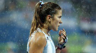 Triste y mojada.Julia Gomes Fantasia en la caída ante Holanda.
