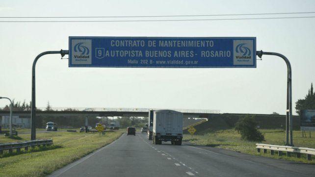 El asalto en la autopista a Buenos Aires ocurrió cerca del mediodía.