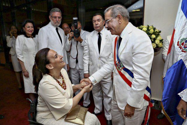 Michetti estuvo hoy en República Dominicana para la jura del reelecto presidente Danilo Medina.