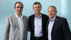 José Corral, Mauricio Macri, y Mario Barletta.