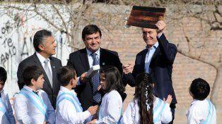 El presidente Mauricio Macri durante su visita a Mendoza.