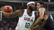 el seleccionado argentino de basquet perdio ante estados unidos y se despidio de los juegos olimpicos