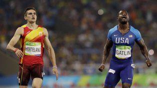 A Gatlin no le alcanzó para meterse en la final con Bolt.