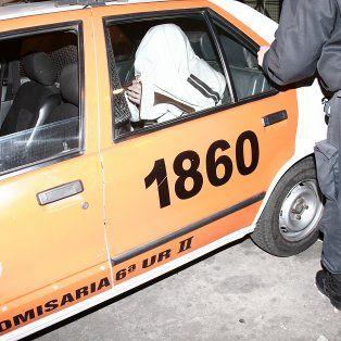 Andrés, cuando salió de declarar en 2008 por el crimen de su novia.