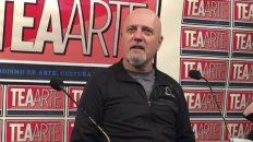 Arrepentido. El músico formuló controvertidas opiniones en un taller de TEA.