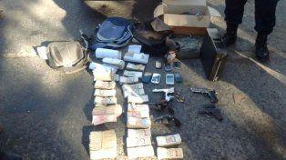 Atraparon a cinco delincuentes con 150 mil pesos que robaron a una distribuidora de gaseosas
