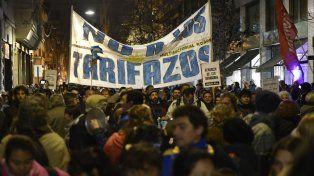 protestas. Las marchas contra el tarifazo incluyeron a las pymes.