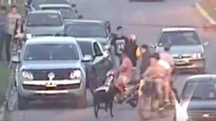 Feroz paliza al conductor de un BMW que conducía ebrio y en contramano en un parque en Roldán