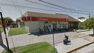 La sucursal del Banco de Galicia ubicada en el barrio de Fisherton.